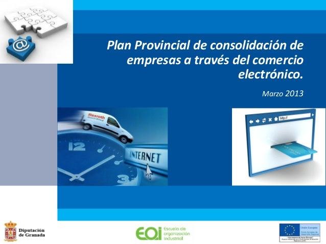 Plan Provincial de consolidación deempresas a través del comercioelectrónico.Marzo 2013