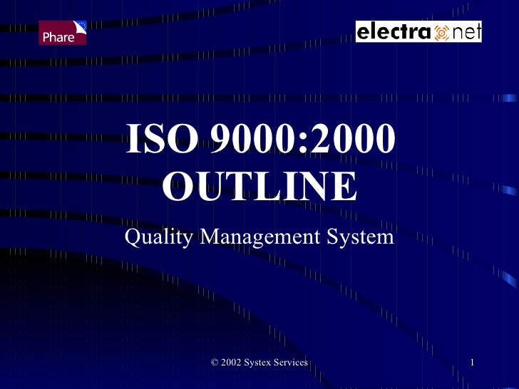 Iso 9000 2000 Outline2850