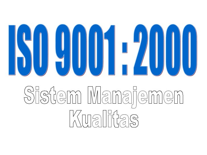 Iso 9001, 9004