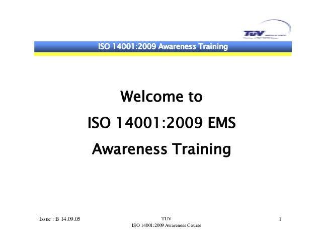 Iso 14001 awareness training
