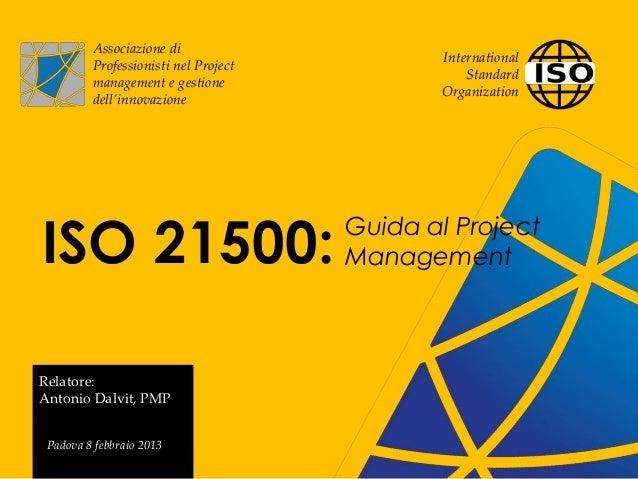 Associazione di                                             International         Professionisti nel Project              ...