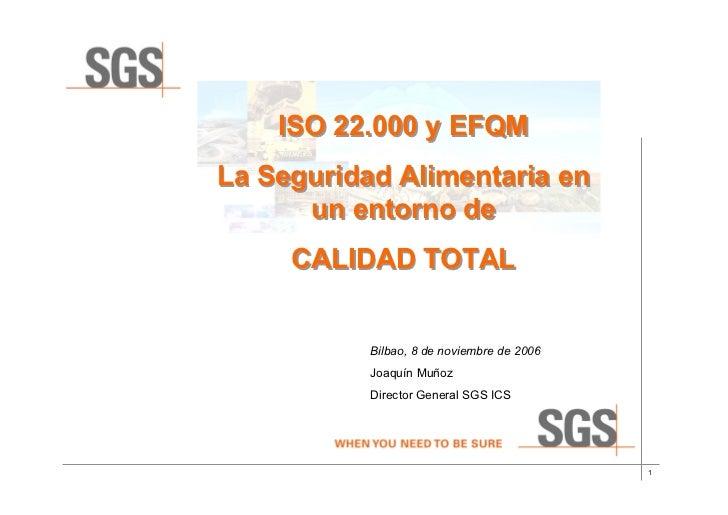 Iso22000y Efqm(Sgs)