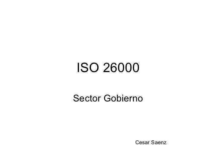 ISO 26000 Sector Gobierno Cesar Saenz
