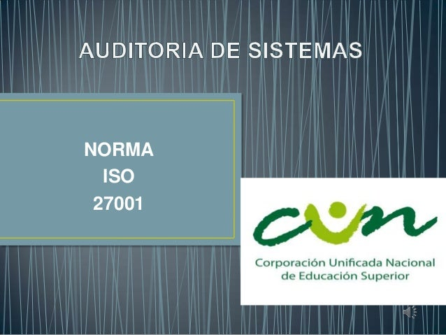 NORMA ISO 27001