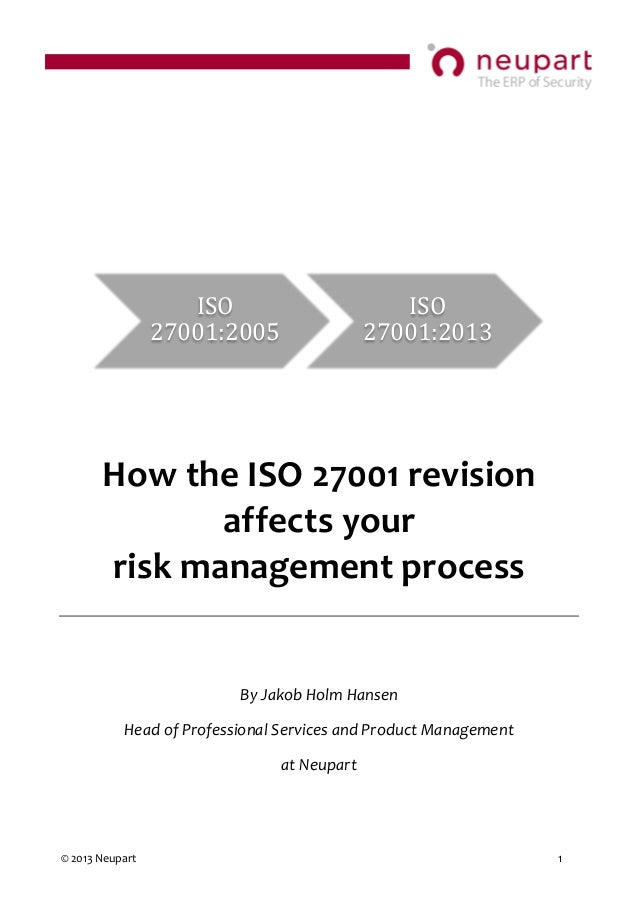How the the 2013 update of ISO 27001 Impacts your Risk Management
