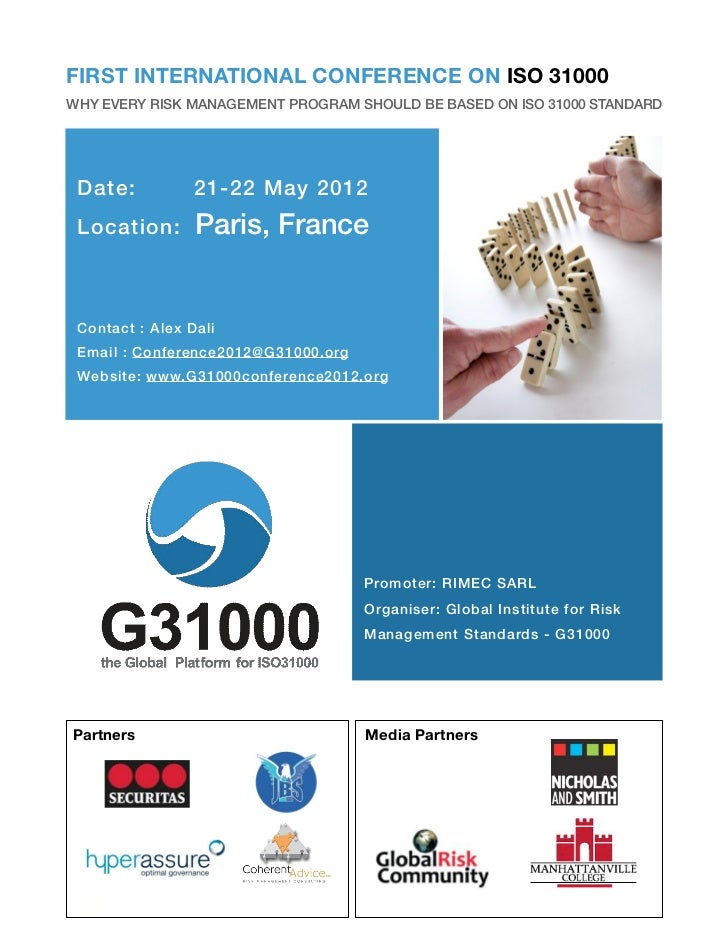 Iso31000conference may2012-short brochure-version-2 april 2012