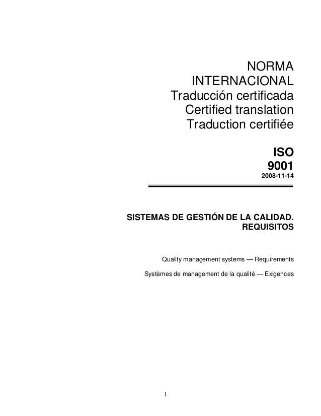 NORMA                 INTERNACIONAL             Traducción certificada               Certified translation                ...