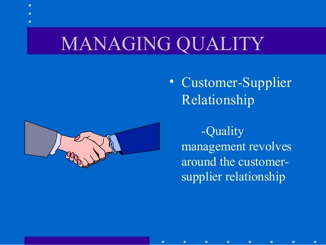 what is customer and supplier intimacy Customer and supplier intimacy: – serving customers well leads to customers  returning, which raises revenues and profits • eg high-end hotels that use.