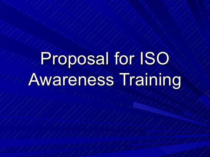 ISO Awareness Training