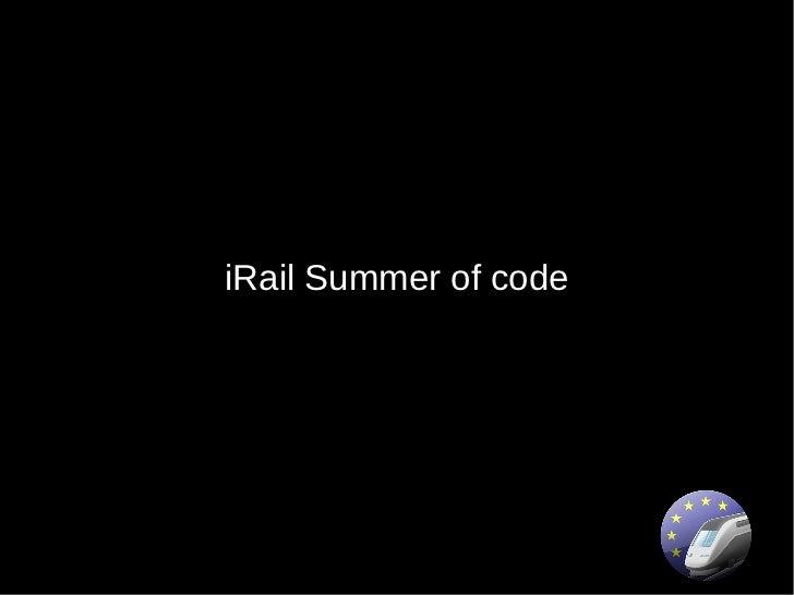 iRail Summer of code