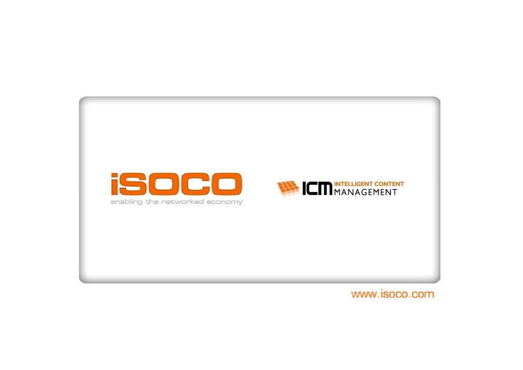 iSOCO Open Innovation 2009