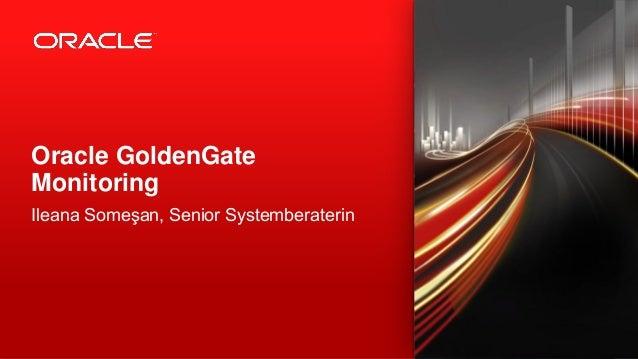 Ileana Someşan, Senior Systemberaterin  Oracle GoldenGate Monitoring