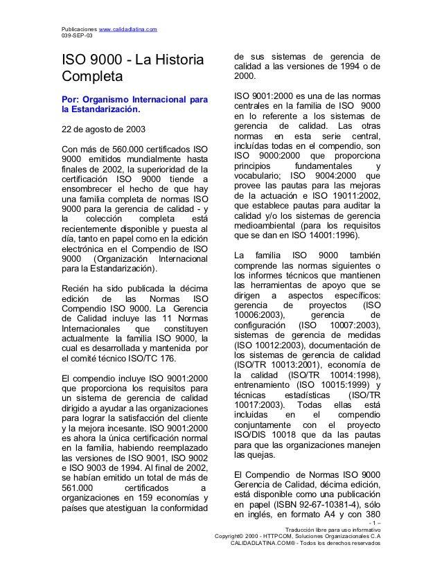 Publicaciones www.calidadlatina.com039-SEP-03                                                 de sus sistemas de gerencia ...