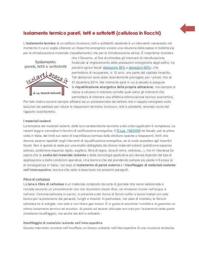 Isolamento termico pareti, tetti e sottotetti