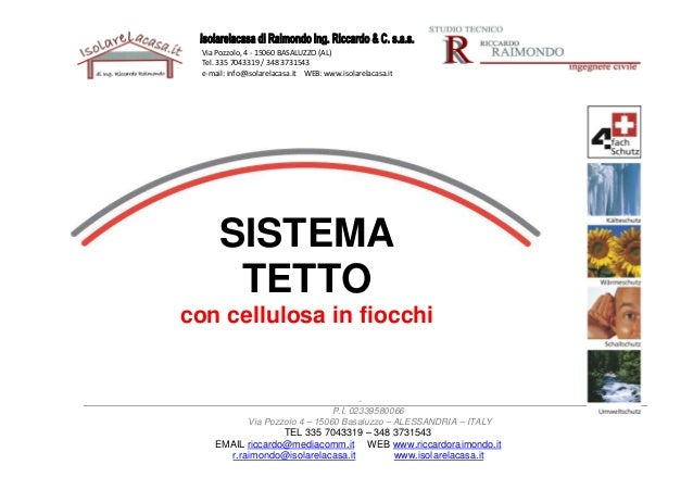 Isolamento termico tetto | cellulosa in fiocchi