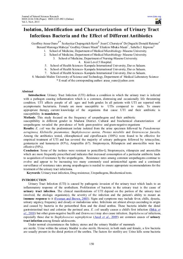 Journal of Natural Sciences Research www.iiste.orgISSN 2224-3186 (Paper) ISSN 2225-0921 (Online)Vol.3, No.6, 2013150Isolat...