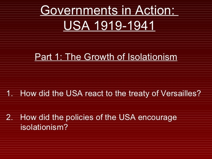 How has foreign policy impacted America domestically since the 1920's?