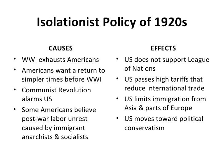 us isolationism 1910s and 1920s By the end of world war i, the united states grew increasingly isolationistic in its   why did the united states adopt an isolationist policy in the 1920's and 1930's   for foreigners to 3% of each nationality living in the united states in 1910.