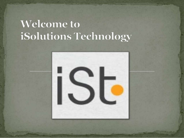  iSolutions Technology, is a specialized online service  provider of services including Web Design Perth, Graphic  design...