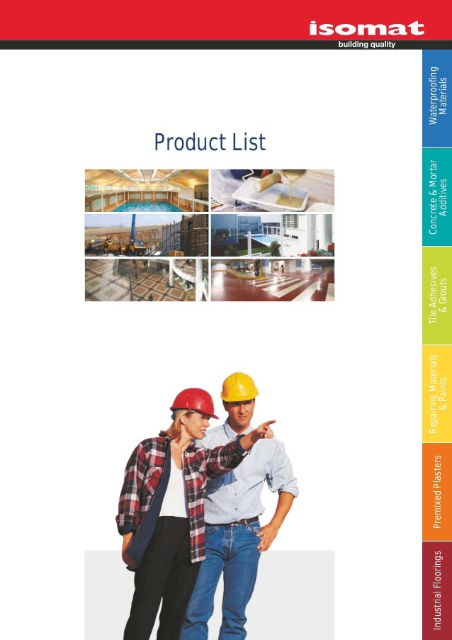 ISOMAT_Product List_ 2012