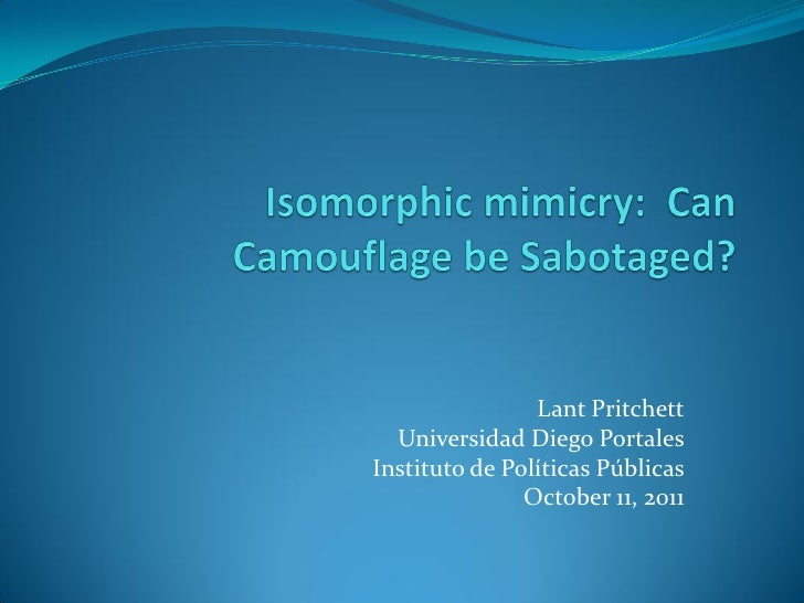 Isomorphic mimicry can camouflage be sabotaged