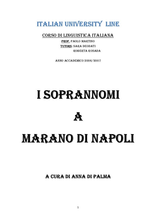 1ITALIAN UNIVERSITY LINECORSO DI LINGUISTICA ITALIANAPROF. PAOLO MARTINOTUTORS: SARA DEODATIROBERTA ROSADAANNO ACCADEMICO ...