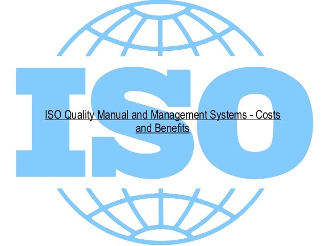 iso quality manual and management systems