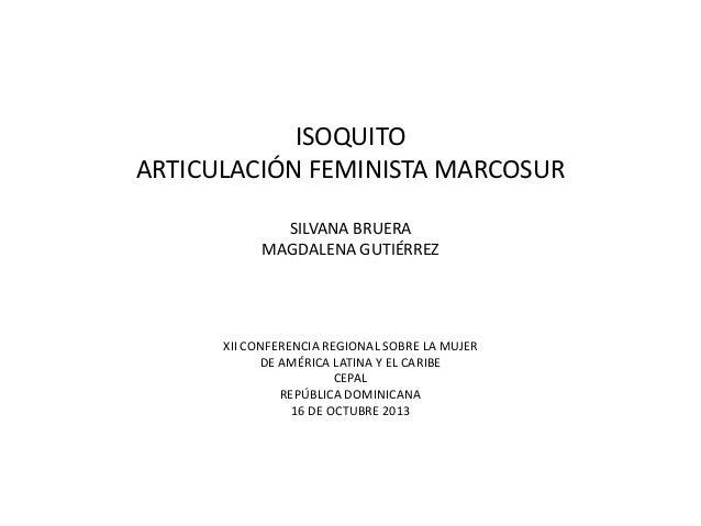 ISOQuito Recargado 2013