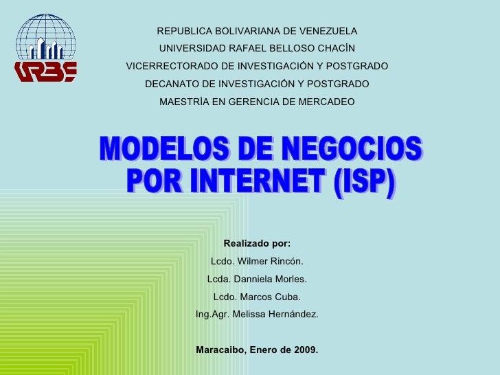 REPUBLICA BOLIVARIANA DE VENEZUELA UNIVERSIDAD RAFAEL BELLOSO CHACÍN VICERRECTORADO DE INVESTIGACIÓN Y POSTGRADO DECANATO ...