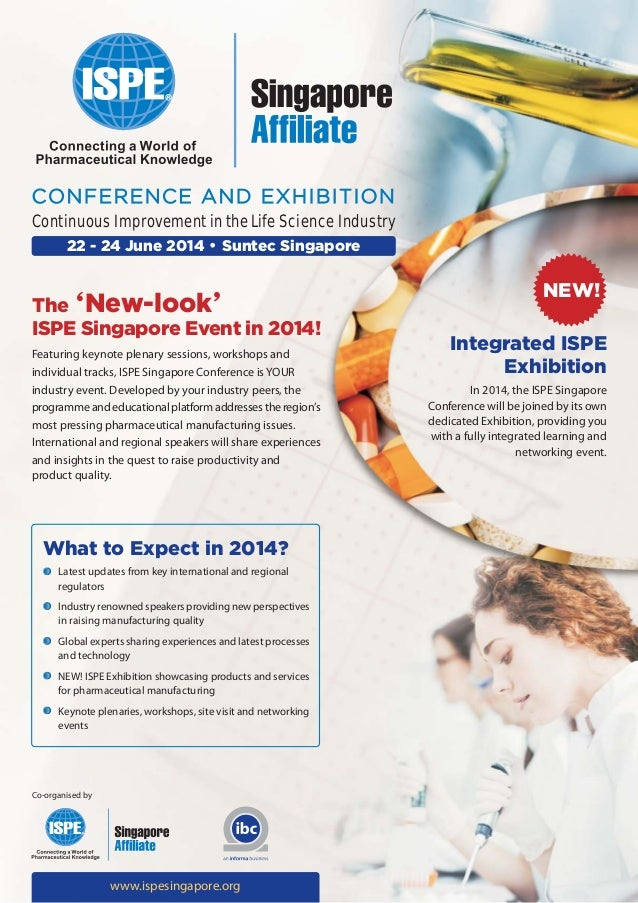 ISPE Singapore Conference and Exhibition 2014