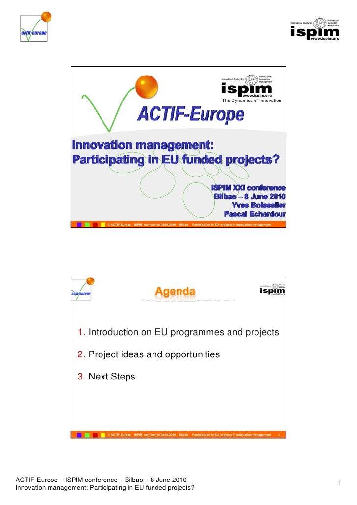 The Dynamics of Innovation                                                    ACTIF-Europe                                ...