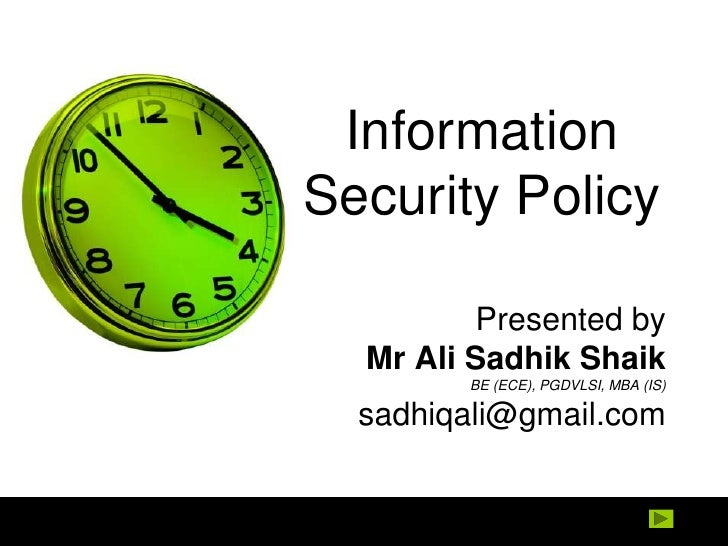 Information Systems Policy