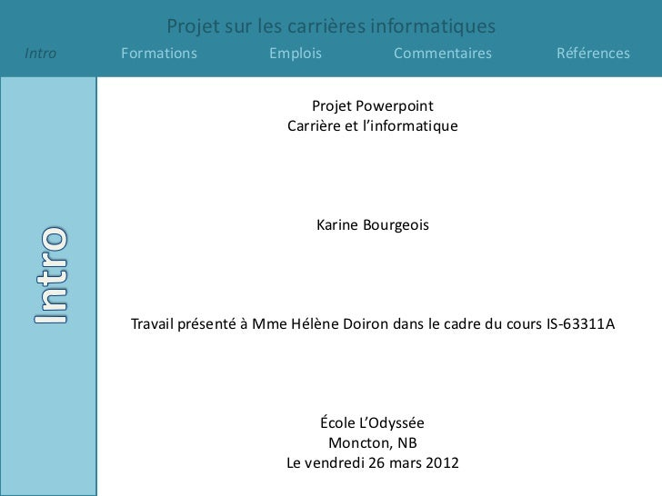 projet carrieres