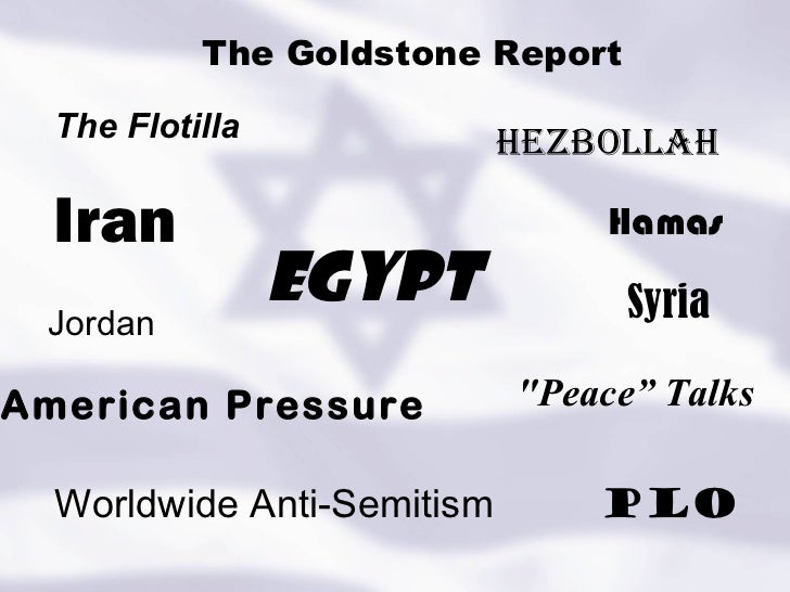 "Iran The Flotilla The Goldstone Report Hamas PLO Hezbollah Syria Egypt ""Peace"" Talks American Pressure Worldwide Anti..."