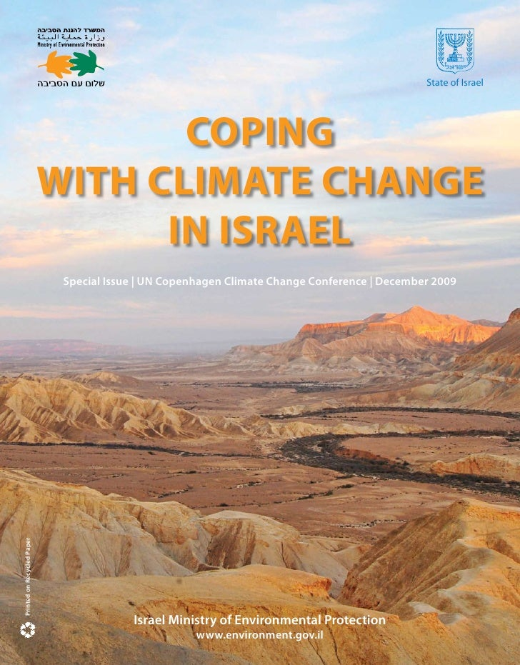 State of Israel                                        COPING                             WITH CLIMATE CHANGE             ...