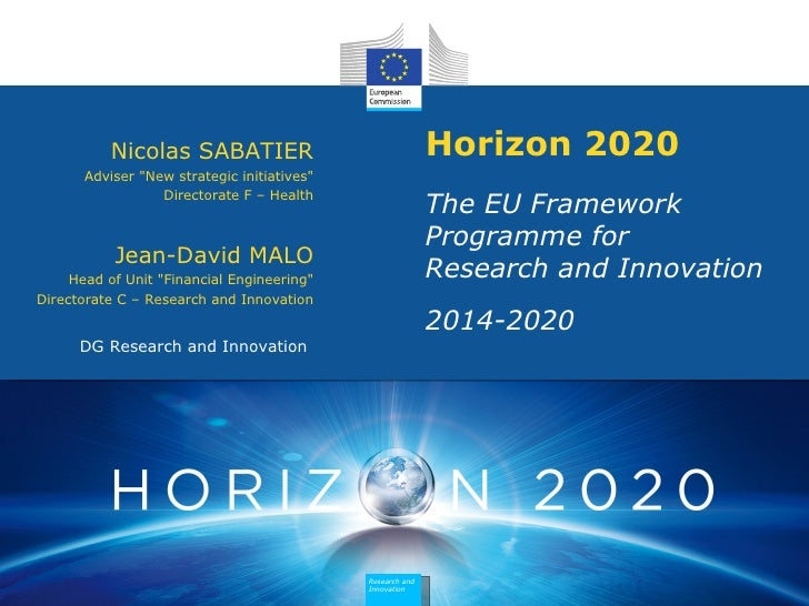 "Nicolas SABATIER                                 Horizon 2020       Adviser ""New strategic initiatives""                  D..."