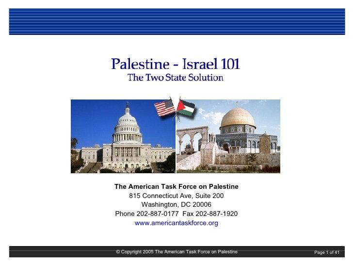 Israel Palestine 101