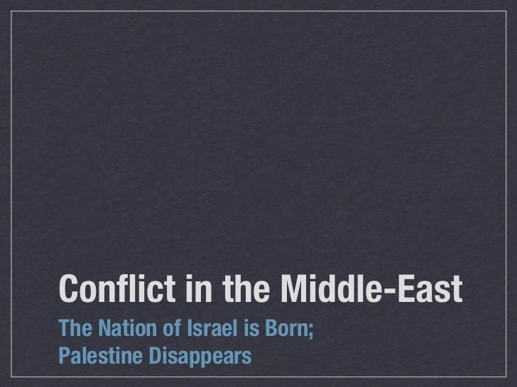 thesis israel palestine conflict