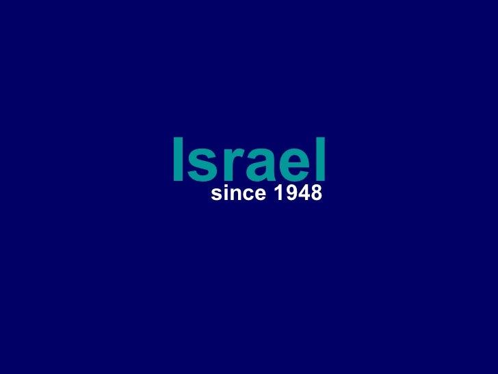 Israel since 1948