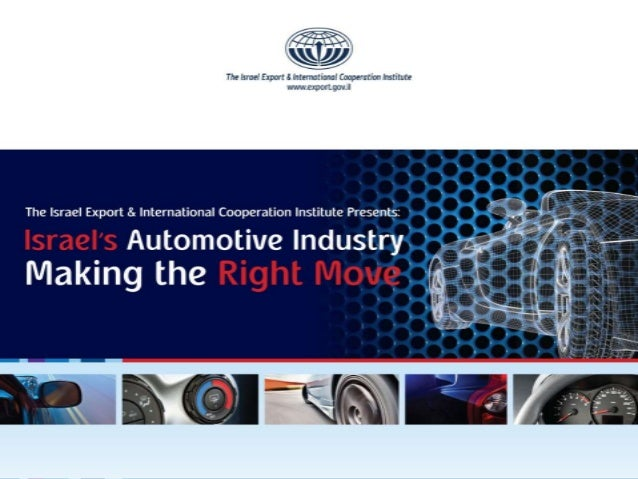Israel's Automotive Industry-Overview- 2013