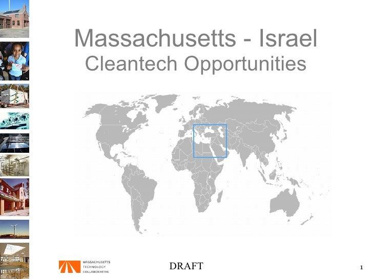Massachusetts - Israel Cleantech Opportunities DRAFT