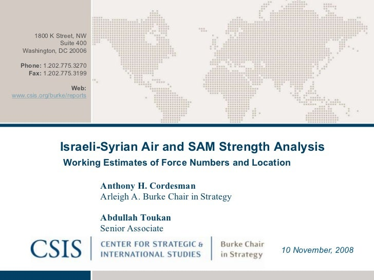 Israeli syrian air and sam strength analysis