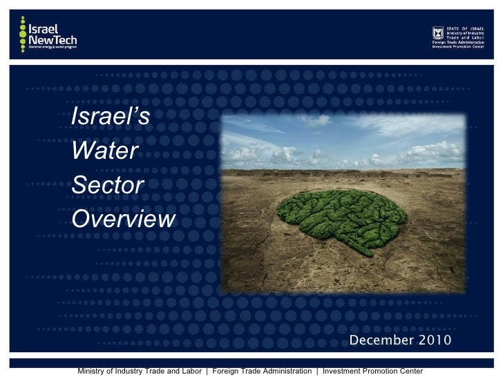 Israel new tech (water)   dec. 2010