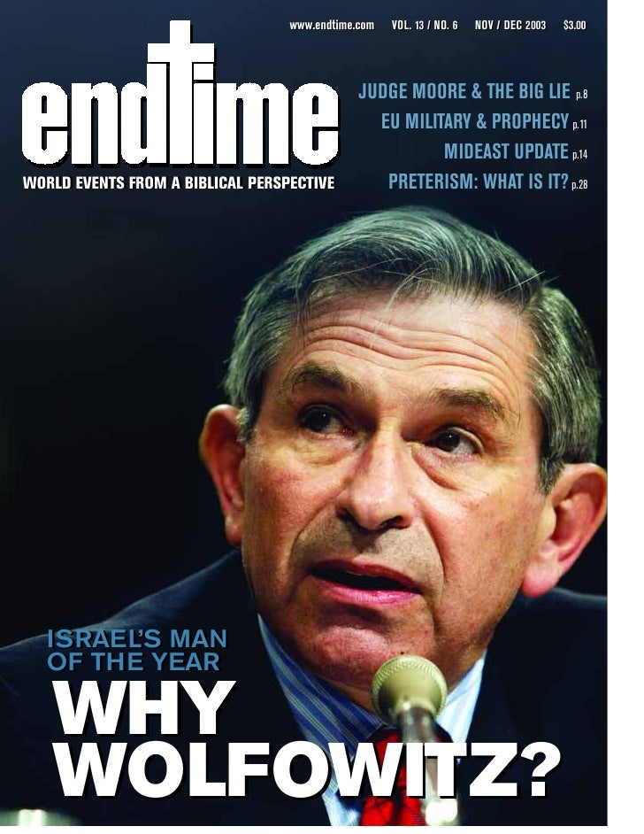 Israel's Man of the Year-why wolfowitz - nov-dec 2003
