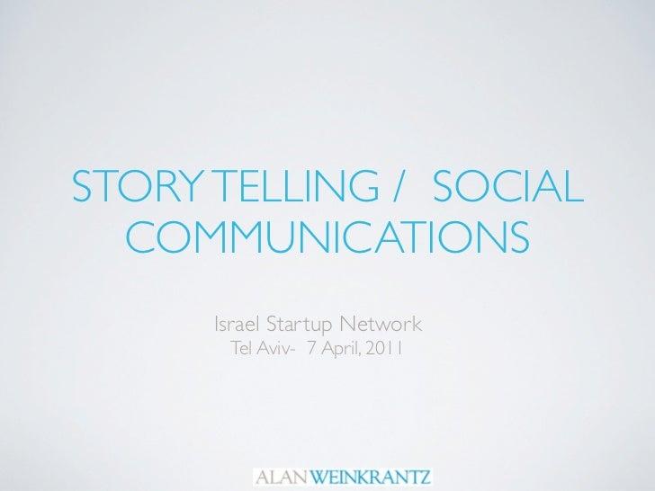 Israel Startup Network Presentation - 6 April 2011