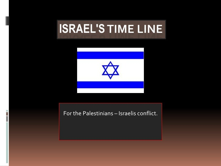 Israel's Time line<br />For the Palestinians – Israelis conflict.<br />