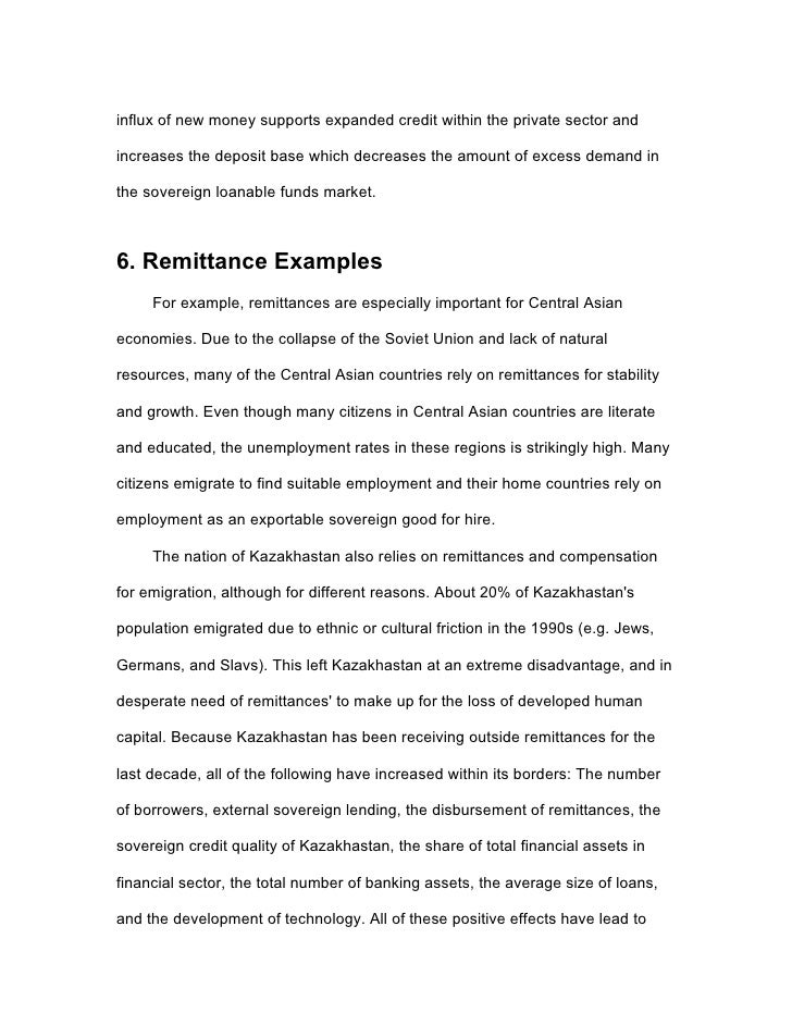 Research paper about economics