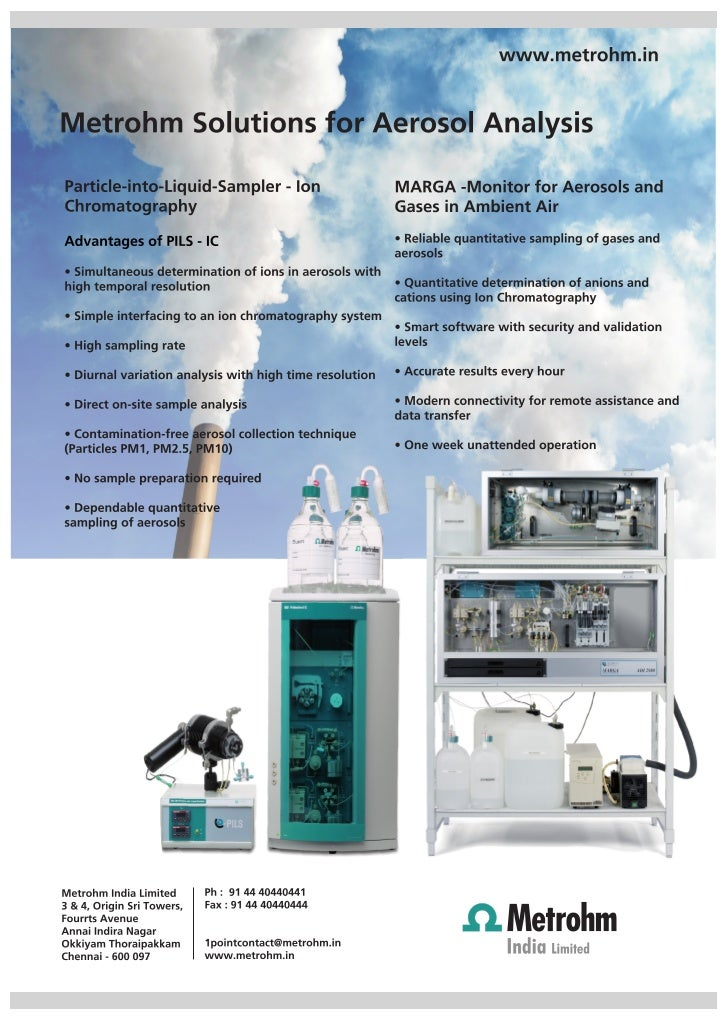 Aerosol analysis with Particle-into-liquid-sampler Ion Chromatography