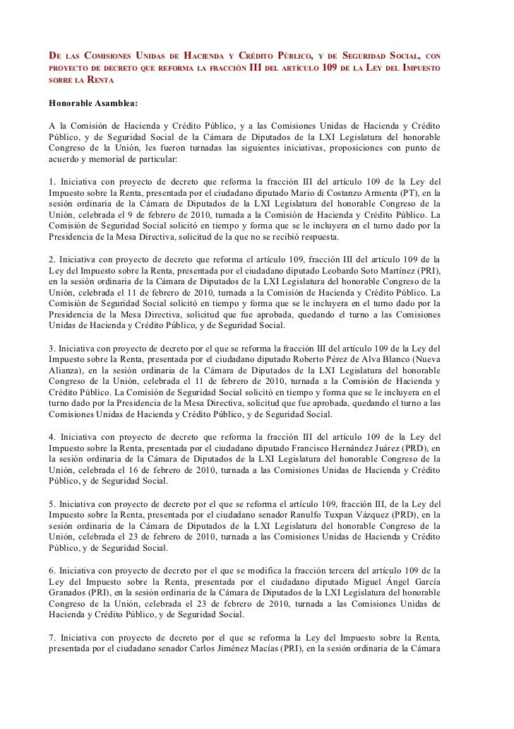 DE   LAS   COMISIONES UNIDAS    DE   HACIENDA   CRÉDITO PÚBLICO, Y DE SEGURIDAD SOCIAL, CON                               ...