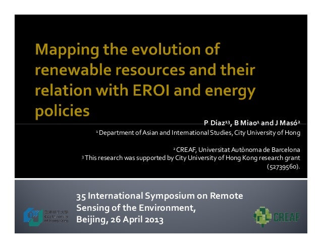 Mapping the evolution of renewable resources and their relation with EROI and energy policies